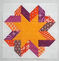 Free Ribbon Star block tutorial