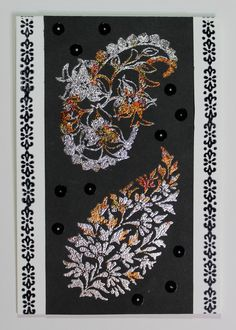 Quick and easy card created with Indian Themed stamps from Chocolate Baroque. Beads Direct, Baroque Design, How To Make Paper, Blank Cards, Hello Everyone, Paper Cutting, Paper Flowers, Stamps, Card Making