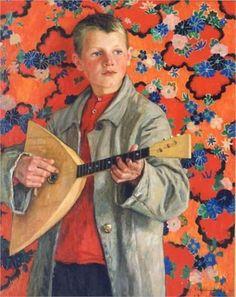 Nikolai Petrovich Bogdanov-Belsky (Russian painter, 1868-1945) - Balalaika Player, 1930