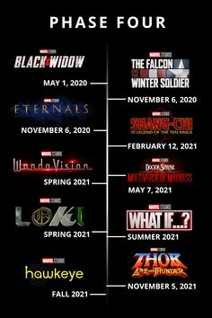 Marvel phase 4 is revealed. These are the upcoming movies and Disney+ exclusive series coming to the big and small screen! Check out what you can expect the next 2 years! Future Marvel Movies, Upcoming Marvel Movies, Avengers Movies, Marvel Movies In Order, Marvel Comics Superheroes, Marvel E Dc, Marvel Avengers, Marvel Logo, Disney Marvel