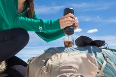 Enjoy a perfect espresso wherever your adventures take you! The Nanopresso is a portable espresso maker capable of producing 18 bars of pressure! Great for a coffee aficionado on the go! #nanopresso #wacaco #minipresso #espresso #portableespressomaker #espressomaker #giftideas #giftideasforcoffeelovers #coffeelovers #espressomachine