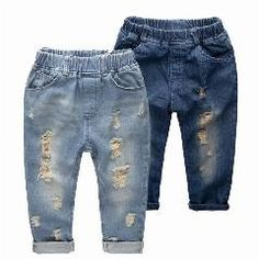 [ 20% OFF ] Ripped Jeans For Kids 2015 Kids Fashion Denim Children's Clothing Baby Boy Jeans For Children Brand Slim Casual Pants