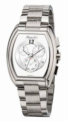 Kenneth Cole Men's KS3007 Swiss Chronograph Bracelet Watch Kenneth Cole. $158.00. Case diameter: 39 mm. Stainless-steel case; Silver dial; Date function; Chronograph functions. Water-resistant to 165 feet (50 M). Precise Swiss-Quartz movement. Mineral crystal