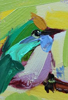 Bee Eater no. 9 Original Bird Oil Painting by Angela Moulton ACEO Art #Art #Impressionism