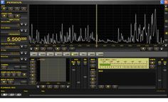 Perseus Software Defined Radio (SDR)  1600 Khz wide Spectrum Display