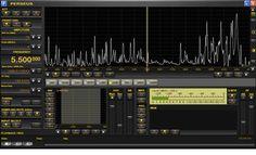 Perseus Software Defined Radio (SDR)  1600 Khz wide Spectrum Display