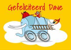 Brandweer Verjaardagskaart - Verjaardagskaarten - Kaartje2go Bart Simpson, Illustrations, Fictional Characters, Illustration, Fantasy Characters, Illustrators