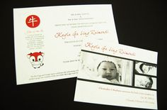 Year of the Ox Red Egg & Ginger Invite and Baby announcement