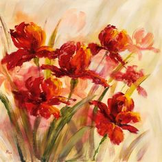 Flores rojas (arte decorativo) Art Poster en AllPosters.es