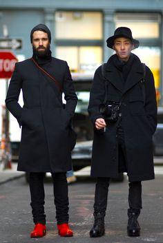"preludetoreality: "" Adam Katz Sinding and YoungJun Koo on Jersey St. NY Street Style |  AnUnknownQuantity """