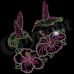 Hummingbirds Rhinestones