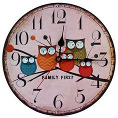 #Owl #Wall #Clock