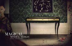 exotica schminktisch design elegant klassich schwarz gold koket