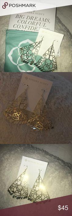 Kendra scott Samira NeW lowest Price Kendra scott Samira. Gold perfect for night out, holiday gift Kendra Scott Jewelry Earrings