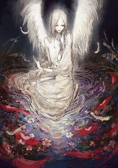 I draw weird Dark Art Illustrations, Illustration Art, Aesthetic Art, Aesthetic Anime, Manga Art, Anime Art, Van Gogh Pinturas, Creepy Art, Surreal Art