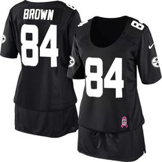 Nike Pittsburgh Steelers #84 Antonio Brown Lights Out Black Elite ...