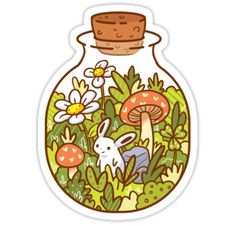 How about a bottle of cuteness to start your day? Also buy this artwork on stickers, apparel, phone cases, and more. Stickers Kawaii, Anime Stickers, Cool Stickers, Printable Stickers, Preppy Stickers, Kawaii Drawings, Cute Drawings, Drawing Faces, Homemade Stickers