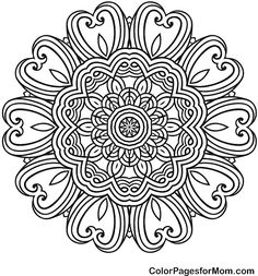 "Mandala Coloring Page 43 | free sample | Join fb grown-up coloring group: ""I Like to Color! How 'Bout You?"" https://m.facebook.com/groups/1639475759652439/?ref=ts&fref=ts"