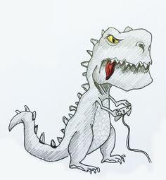 The procrastinating dinosaur
