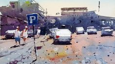 Can a Car Park make for an interesting painting ?  A watercolour demo by...