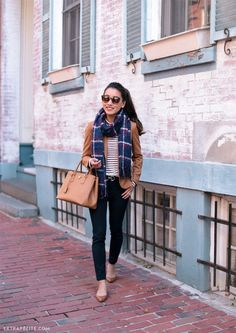 fall work outfit flat shoes_extra petite