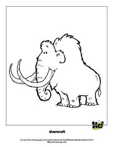 mammoth free coloring page by bob ostrom studio, via Flickr