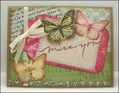 Butterflies Miss You Card