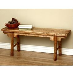 @Overstock - this Rustic Mongolian Bench will be a functional addition to your living room. This piece has been handmade of mahogany wood.  http://www.overstock.com/Worldstock-Fair-Trade/Rustic-Mongolian-Bench-Indonesia/4297854/product.html?CID=214117 $279.99