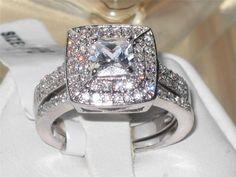 Sizes 5,7,8,10 Gorgeous Princess Halo Wedding Set. Starting at $1