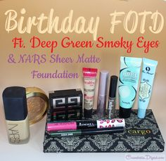 FOTD with smoky eye makeup for birthday party, ft. NARS Sheer Matte Foundation and Cargo Cosmetics eyeshadows.