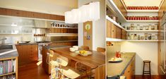 wooden kitchen with open shelving, Buena Vista Residence San Francisco, CA | Schwartz and Architecture