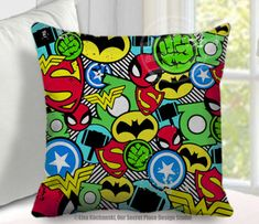 superhero throw pillow cover superhero pillow superhero decor superhero room decor for boys room comic book decor superhero bedroom