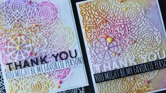 Today I'm sharing a coupe of ways to use embossing paste with stencils. I'm using the gorgeous new Circular Lace Stencil from Simon Says Stamp but you can achieve similar looks with many different stencil designs. I'm pairing the. Card Making Tutorials, Making Ideas, Video Tutorials, Miss You Cards, Thank You Cards, Distress Ink Techniques, Lace Stencil, Simon Says Stamp, Stencil Designs