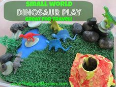 The Usual Mayhem: Small Worlds Dinosaur Play for Travel - Poppins Book Nook