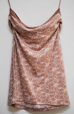 EXPRESS WOMENS TANK TOP Casual Off-Shoulder Floral Modal Beige size XS #Express #TankCami #Casual