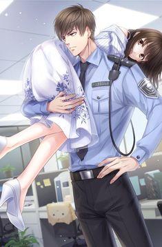Bai Qi - Love and Producer Anime Cupples, Hot Anime Boy, Cute Anime Guys, Couple Manga, Anime Love Couple, Girl Couple, Anime Couples Drawings, Anime Couples Manga, Anime Cosplay