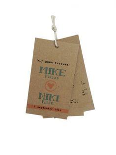 #trouwlabel #labelkaart #vintage #kraftkarton #mint #peach #koraal #inopdrachtgemaakt BY Huis & Grietje
