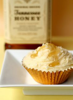 Boozy and delicious Jack Daniels Honey cupcakes!