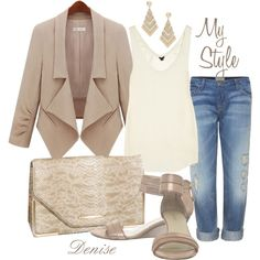 Neutral, created by deniselanders on Polyvore