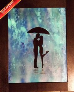 Spray Paint Art, Kissing in the Rain (marble blue) spray paint art original signed spray painting with handmade wood frame made in the USA by BeardArtStudios on Etsy Blue Spray Paint, Spray Painting, Beard Art, Kissing In The Rain, Paint Brushes, Art Studios, Painting Inspiration, Custom Framing, Picture Frames