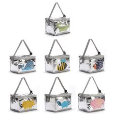 e4c50412f Kids Animal Insulated Thermal Lunch Bag Lunch Box Picnic Cooler Tote Bag  Strap