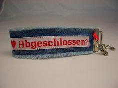 Schlüsselband mit Webband von Fräulein Hille auf DaWanda.com