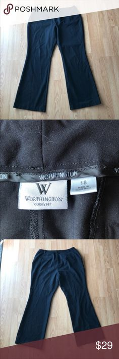 Worthington Black Slacks - Curvy Fit In great condition! I accept all reasonable offers! Worthington Pants