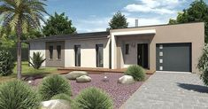 Maison Alba - IGC | Faire construire sa maison Construction, Concept Home, Garage Doors, Outdoor Decor, Villas, Home Decor, Prefabricated Home, Future House, Modern Townhouse