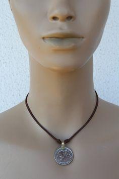 collar moneda etnico boho tribal nomada necklace por azulcasinegro
