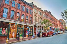 Downtown Portland street, Maine