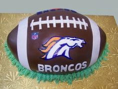 Broncos Football Grooms Cake