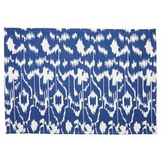 Check out this item at One Kings Lane! S/4 Ikat Place Mats, Vivid Blue