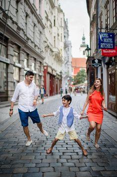 Family photo shoot in Prague