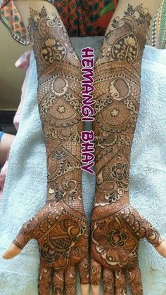 50 Bridal Mehndi designs for full hands and legs - Wedandbeyond